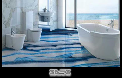 3D flooring images designs 3D bathroom floor epoxy painting