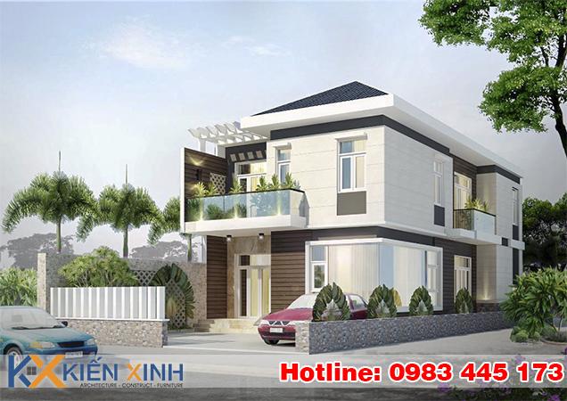 BT03 - Biệt thự phố mái ngói 2 tầng đẹp