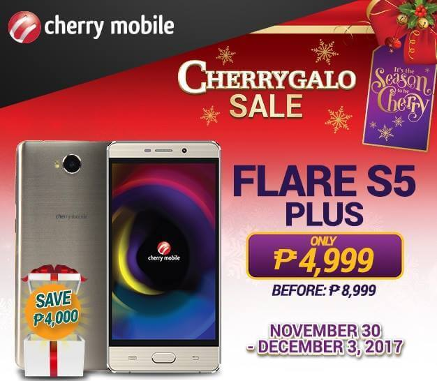 Cherry Mobile Flare S5 Plus To Be On Sale This November 30 To December 3 For Php4,999
