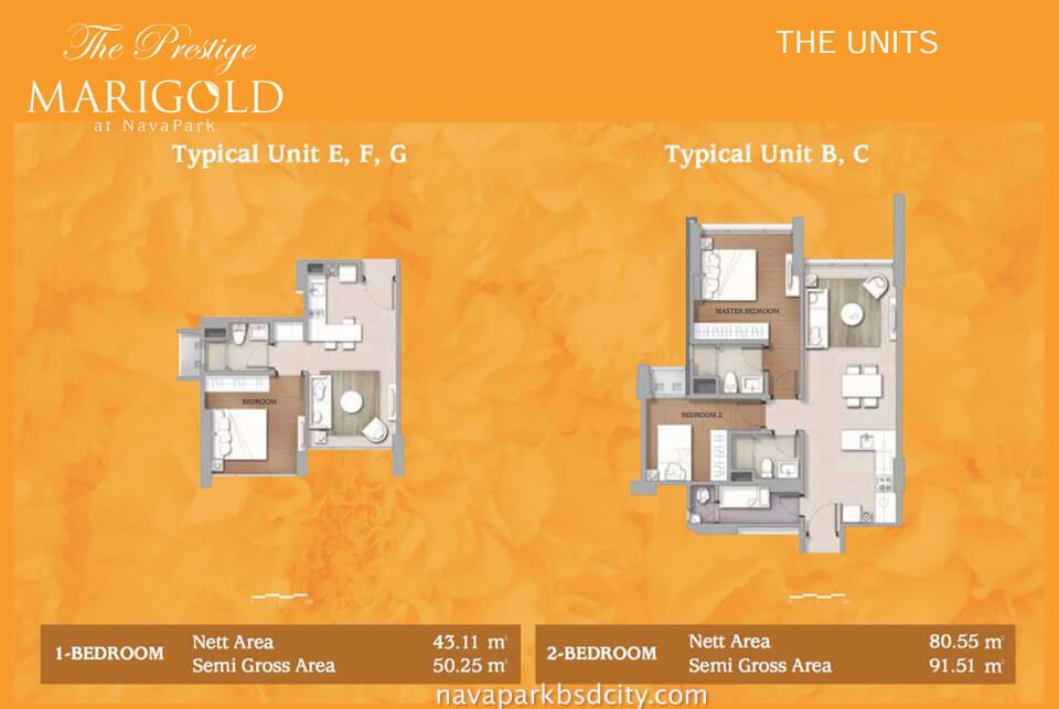 Floor Plan Apartemen Marigold