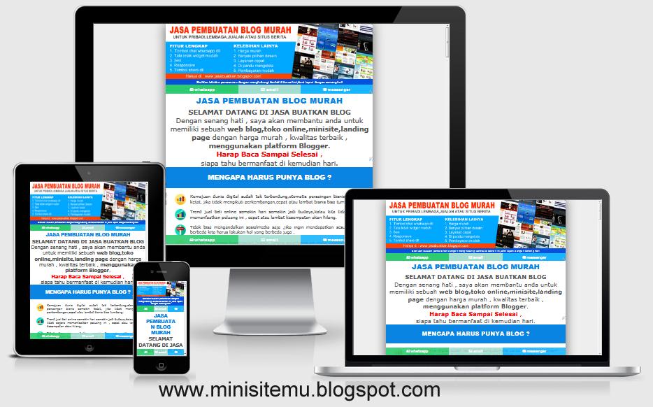 template minisite blogspot murah