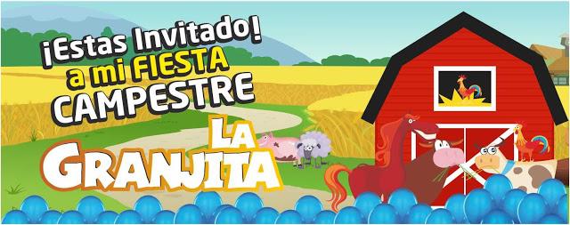 Invitacion digital bombas azules paquetes fiesta cumpleaños Bogota