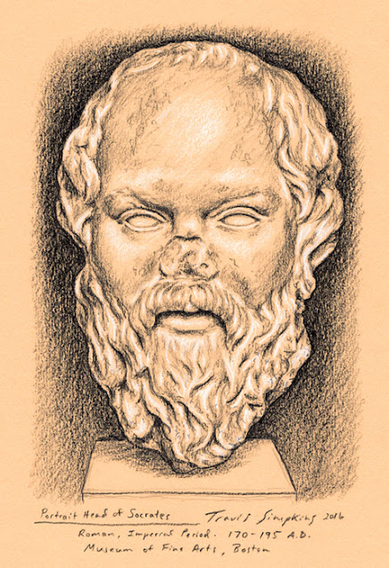 Socrates. Philosopher. Ancient Greek. Museum of Fine Arts, Boston. by Travis Simpkins