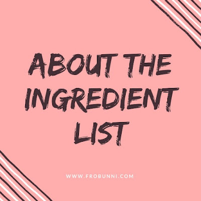 About the Ingredient list header image