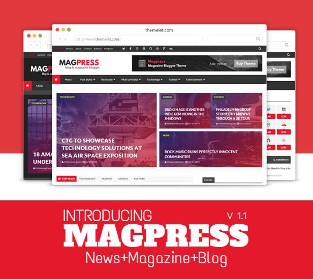 Magpress v3.1 - Magazine Responsive Blogger Template