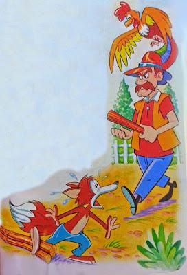 la zorra y el gallo fabula