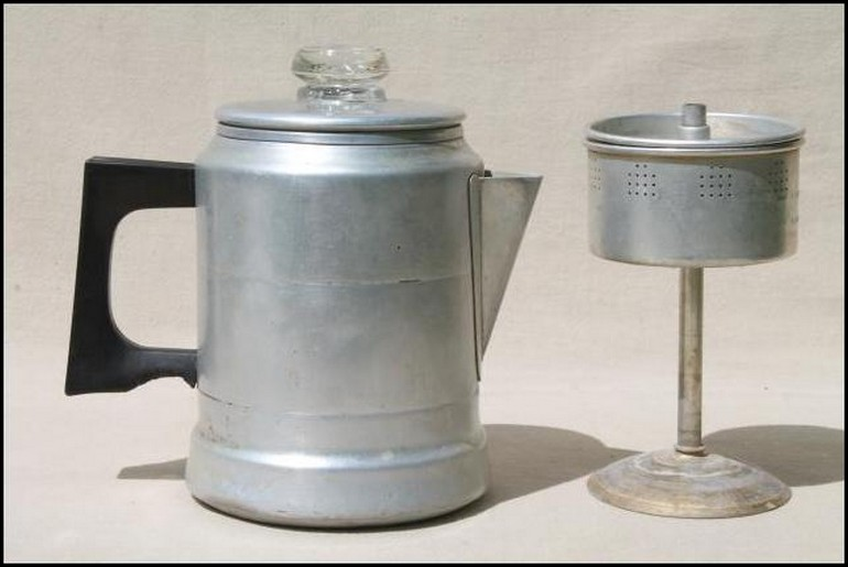Vintage Revere Ware Stainless Copper Clad 6 Cup Coffee Pot Stove Top Is Portrayed By The Italian Aluminum Moka Which A Customary Style