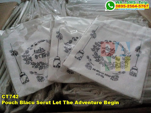 Pouch Blacu Serut Let The Adventure Begin