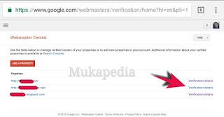 Cara Melihat Kode Verifikasi Webmaster, melihat kode verifikasi Search Console Yang Lupa, mengecek kode verifikasi di search console, letak kode verifikasi webmaster,