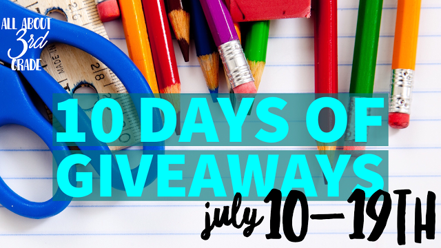 10 Days of Giveaways - Mrs 3rd Grade gives away Superhero Math!
