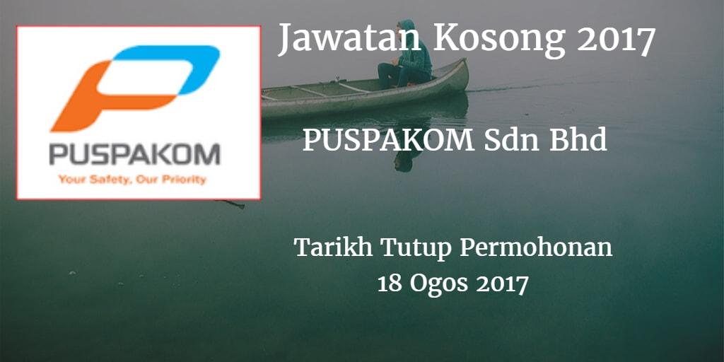 Jawatan Kosong PUSPAKOM Sdn Bhd 18 Ogos 2017