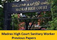 Madras High Court Sanitary Worker Previous Papers