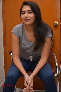 Actress Vyoma Nandi Pictures in Jeans at Marala Telupana Priya Movie Success Meet 0051