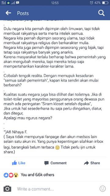 Status FB Afi Nihaya