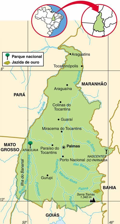 Tocantins | História da Criação do Estado de Tocantins