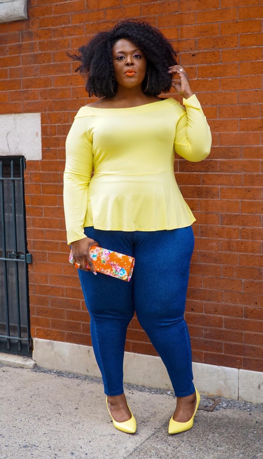ftf, fashion to figure, yellow peplum top, plus size peplum top