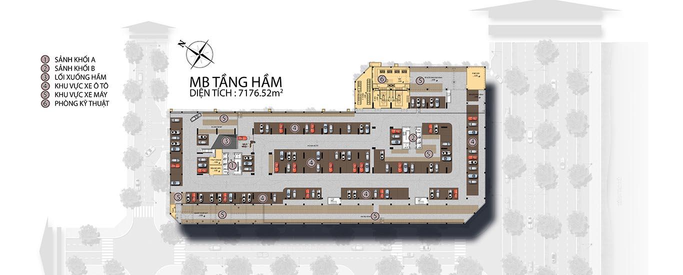 Mat bang tang ham can ho viva riverside