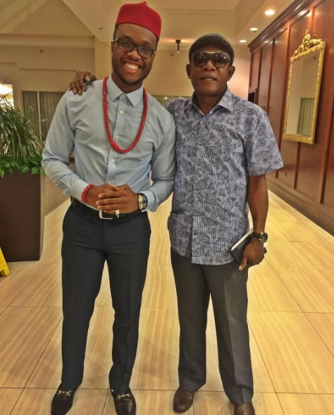 Comedian Chief Obi and Osuofia hangs out in the USA