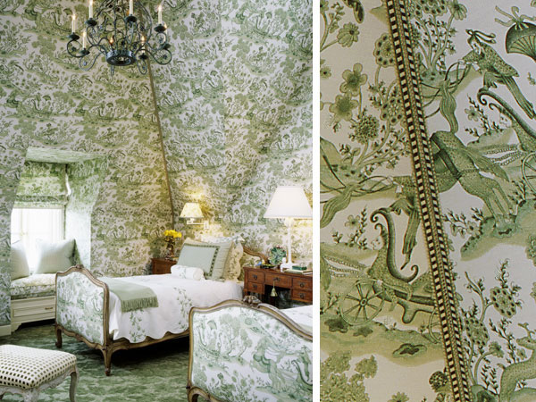 Chinoiserie Chic: The Green Chinoiserie Bedroom