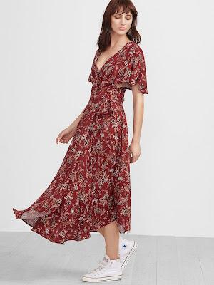 vestido rojo largo fiesta