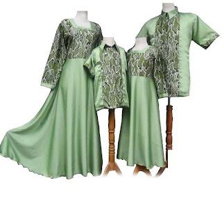 model baju batik couple keluarga elegan