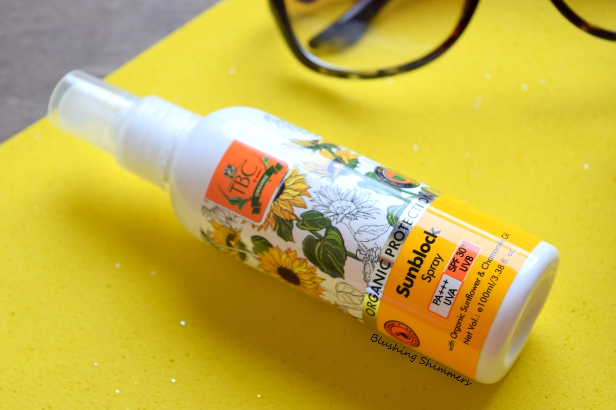 TBC Organic Protection Sun Block Spray Review