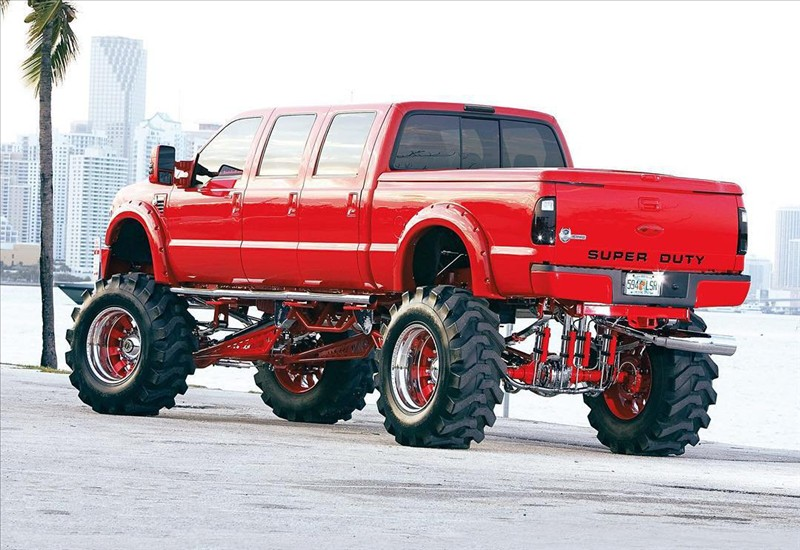 monster Ford F-250 Reds from Miami