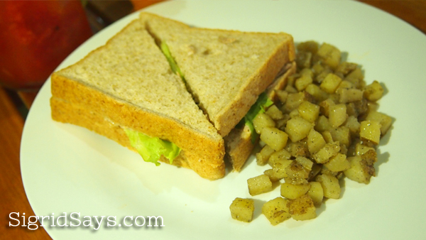 Ginger Lime Diner sandwich
