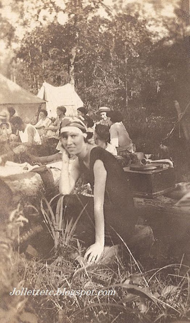 Helen Killeen Parker on a camping trip early 1900s