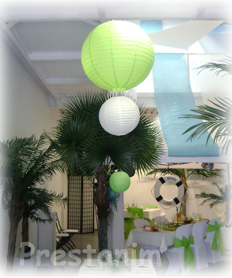 ma d coration de mariage d corations salle de mariage avec des boules japonaises. Black Bedroom Furniture Sets. Home Design Ideas