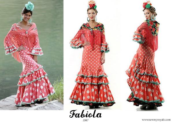 Princess Ariane wore Fabiola 1987 Flamenco Dress