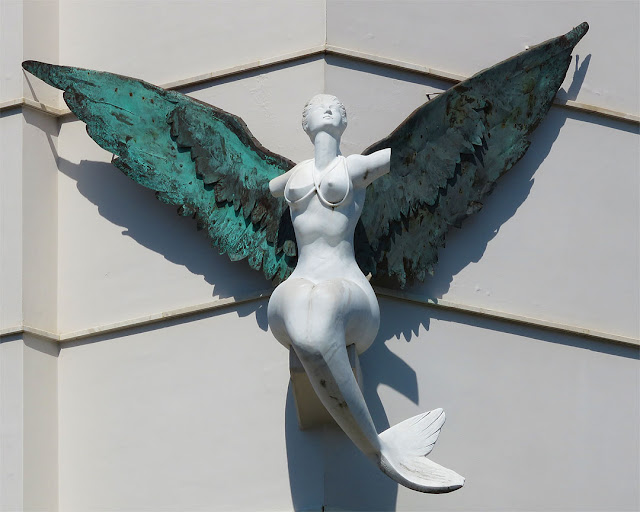 Winged mermaid by Enrico Bacci, Via di Collinaia, Livorno