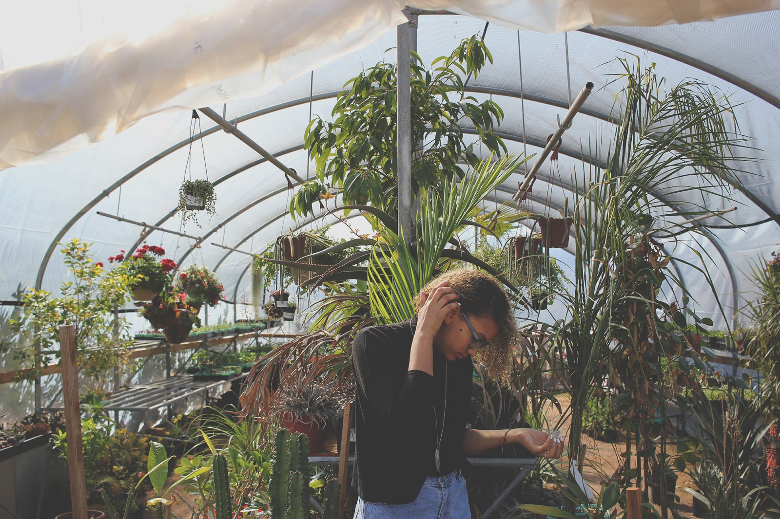 Girl in Greenhouse