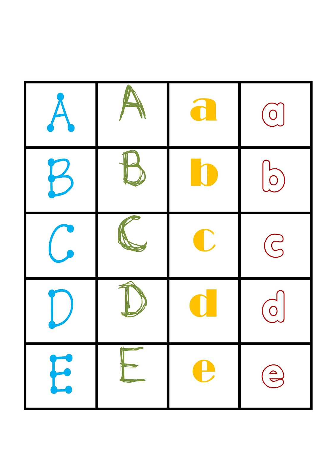 I Teacher Printable Alphabet Games Memory Letter Tiles