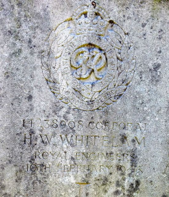 Photograph of The grave of Corporal Herbert Whitelam  Image by the North Mymms History Project, released under Creative Commons BY-NC-SA 4.0