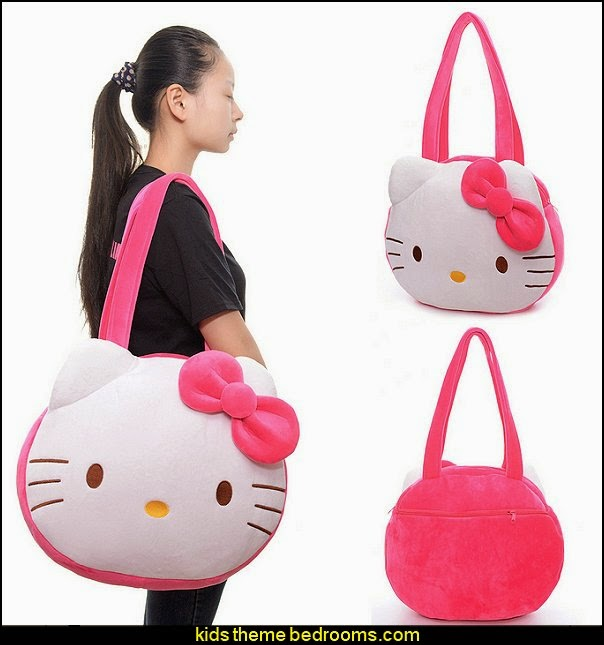 Hello Kitty Shoulder Bag Plush Big Cartoon Handbag