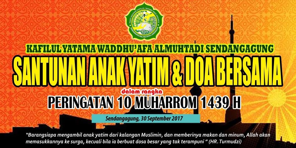 Banner Santunan Yatim Kafilul Yatama Almuhtadi Sendangagung Paciran Lamongan