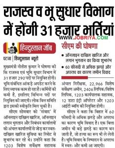 BSSC Anchal Nirikshak Recruitment 2018 Bihar Revenue & Land Reform Department Recruitment 2018 for Circle Inspector, DEO, Clerk & Vishesh Sarvashan Amin Check Eligibility Criteria Apply Online Last Date.