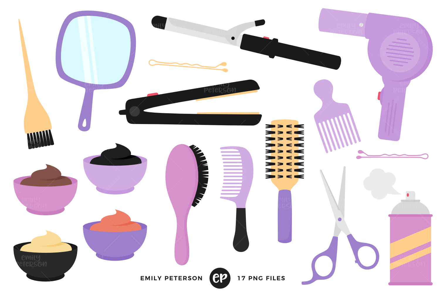 Hair Stylist Clipart, Emily Peterson
