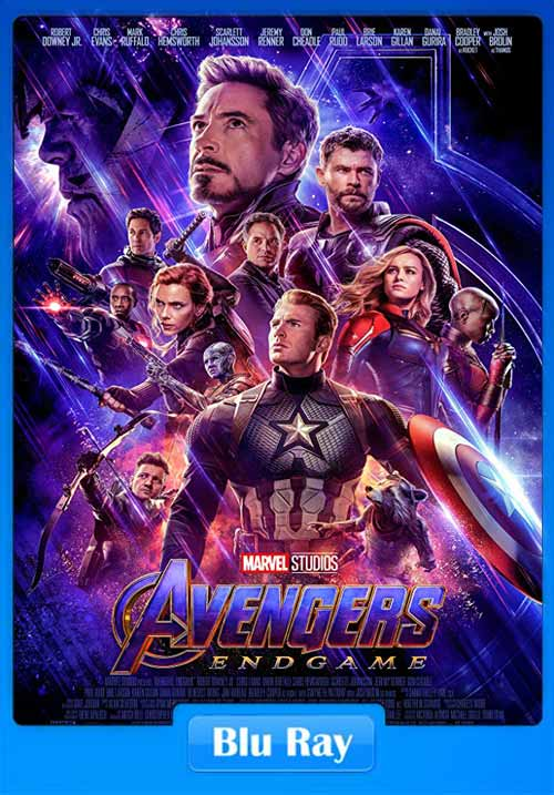 Avengers Endgame 2019 Hindi 720p BluRay Telugu Tamil Eng ESub | 480p 300MB | 100MB HEVC