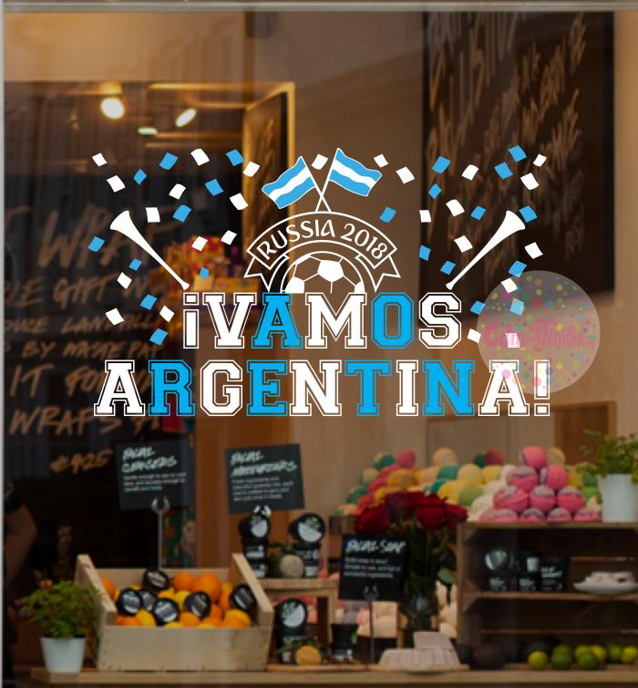 Vinilo vidriera mundial rusia 2018 argentina, papelitos, futbol, vidrieras, vinilos decorativos para hogar y objetos, calcos, stickers, ploteo