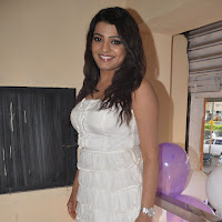 tashu kaushik in white short dress giving interview