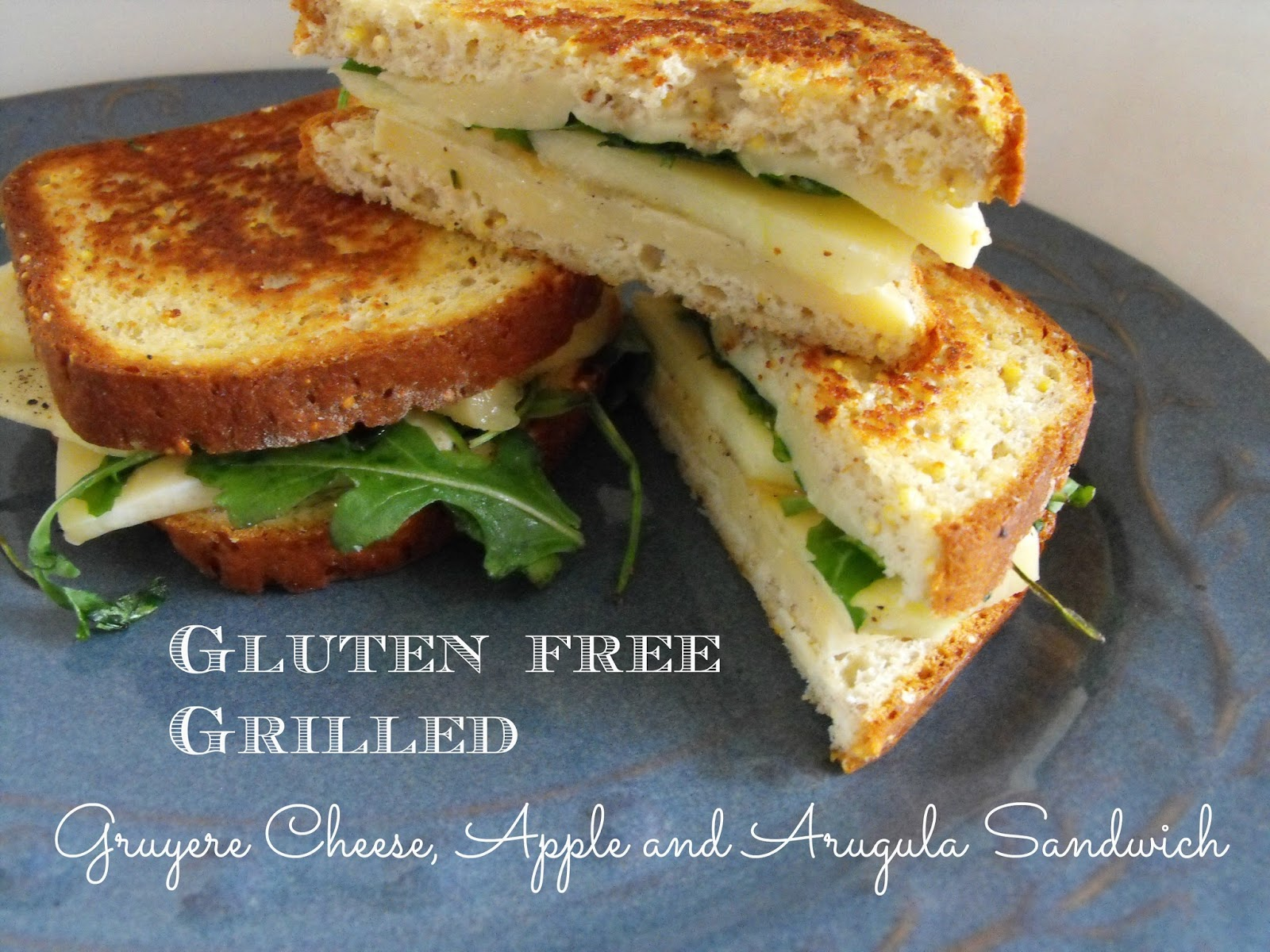 Gruyere cheese, apple arugula grilled cheese