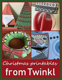 Christmas printable decorations from Twinkl