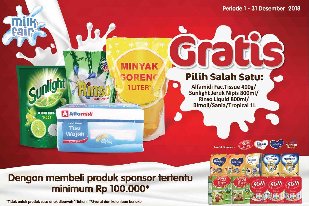 Alfamidi - Promo Milk Fair Gratis Produk Khusus (s.d 31 Des 2018)