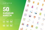 Ramadan Kareem Flat Icons - أيقونات رمضان