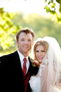 Matt and his wife Melisa during their wedding