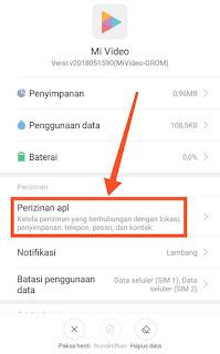 Perizinan Aplikasi di HP Xiaomi