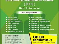 Lowongan Dosen Universitas Nahdlatul Ulama Indramayu Agustus 2017