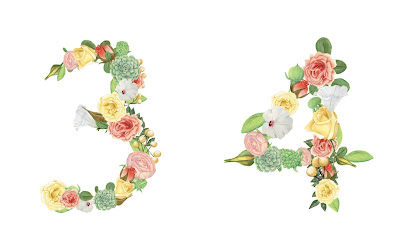 A floral number 34